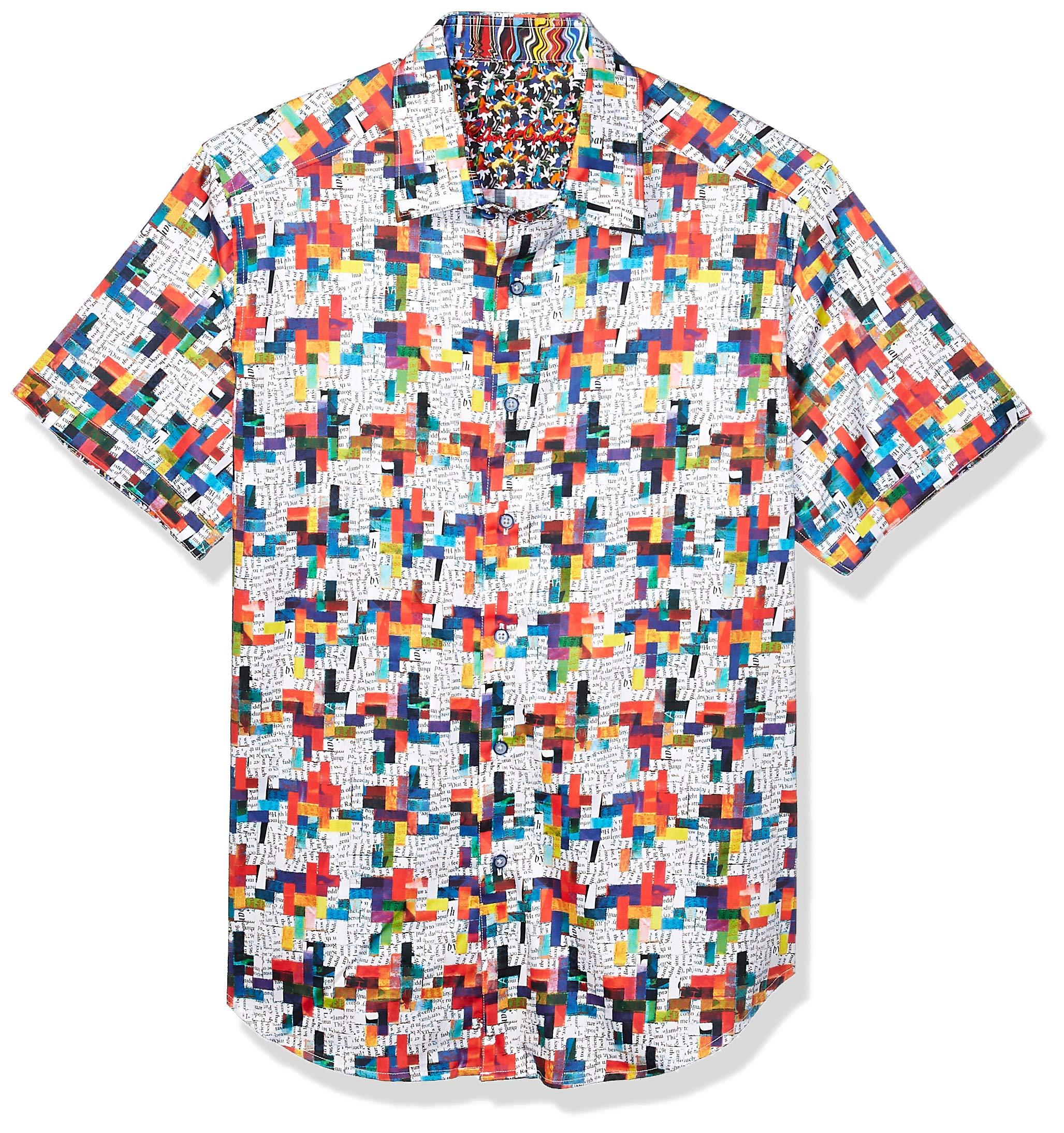 Robert Graham Men's Ransom Note S/S Woven Shirt