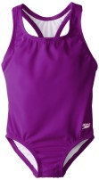 Speedo Girls Swimsuit One Piece Learn-to-Swim Racerback - Manufacturer Discontinued