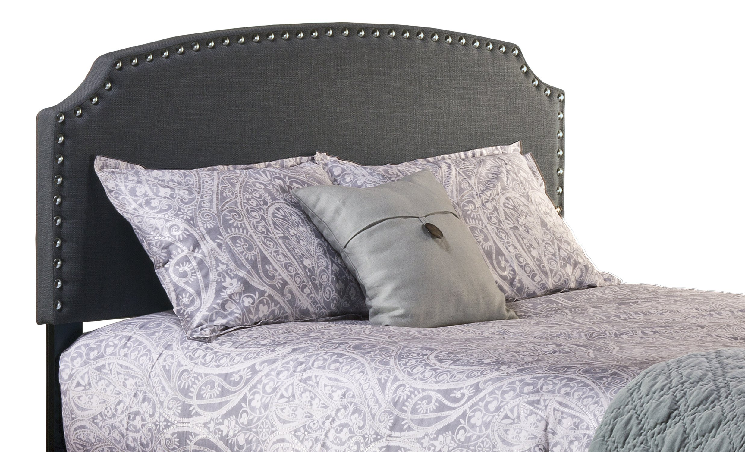 Hillsdale Furniture Hillsdale Lani Upholstered Without Bed Frame, Dark Linen Gray Full Headboard,