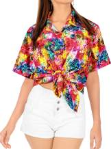 Ladies Hawaiian Shirt Beach Top Casual Tank Blouses Artistic Crafted Printed