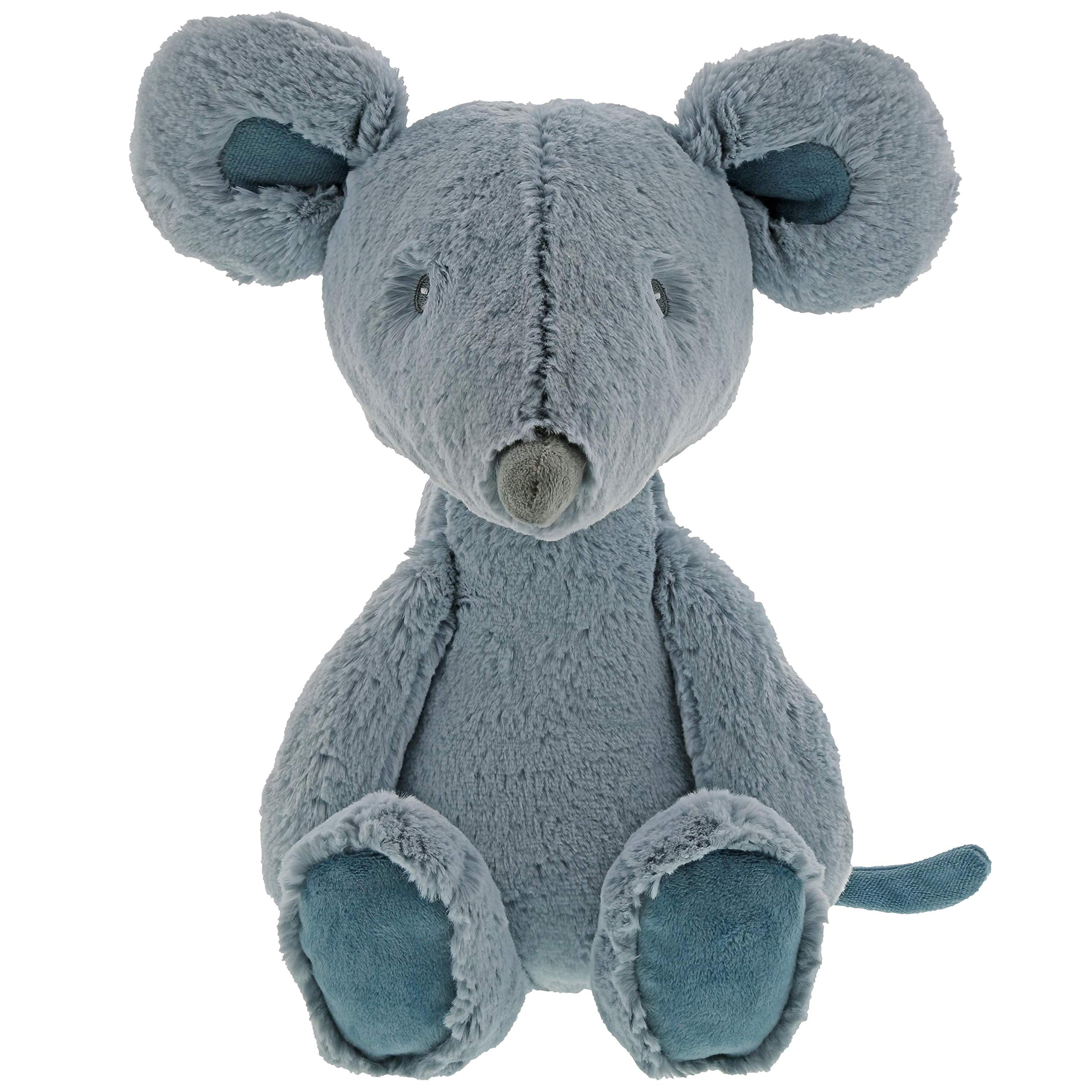 "Gund Baby Toothpick Mouse Stuffed Animal Plush Toy, Blue, 16"""