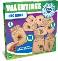 JOYIN 30 Pcs Valentines Day Gift Cards Realistic Bug Toy Set for Kids Valentine's Classroom Exchange Party Favor Toys, Valentine Gift Exchange