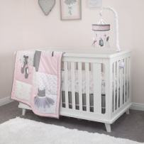 NoJo Ballerina Bows 4 Piece Crib Bedding Set