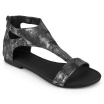 Journee Collection Womens Flat Metal Detail Sandals