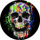 TIRE COVER CENTRAL Splatter Skull Spare Tire Cover (Select tire Size/Back up Camera Option in MENU) Custom Sized to Any Make/Model 235/70r16