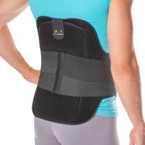 BraceAbility LSO Back Brace for Herniated, Degenerative & Bulging Disc Pain Relief, Sciatica, Spine Stenosis | Medical Lumbar Support Device for Post Surgery & Fractures with Hot/Cold Therapy (2XL)