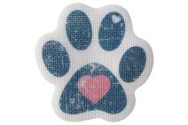 "SlipRx USA Nonslip Bathtub Stickers Safety Adhesive Paw Print Treads | Large Decal Surface Area Shower Grip - 4"" Diameter Applique (Blue Heart)"