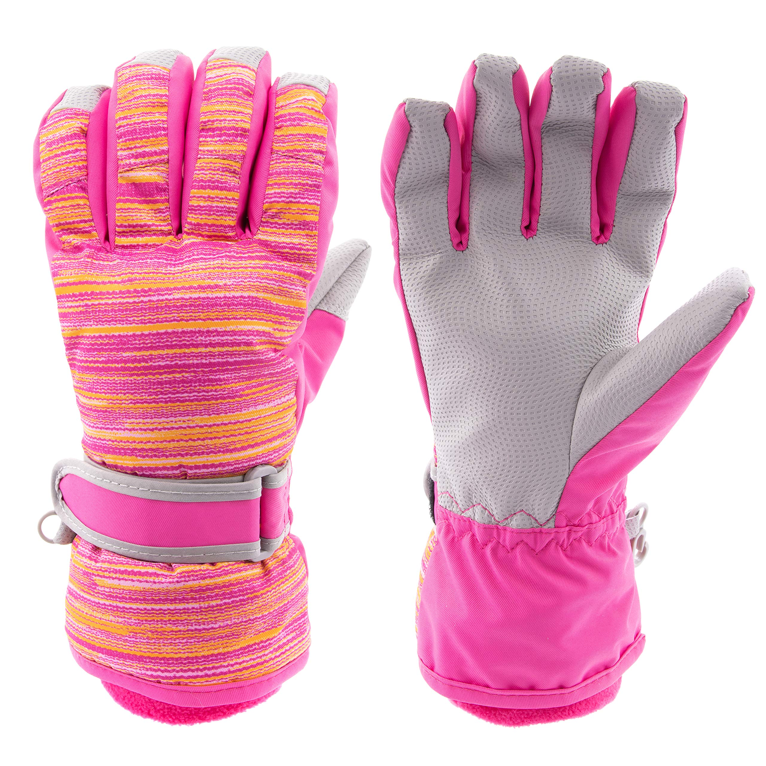 Arctic Quest Kids Boys and Girls Thermal Insulated Performance Water Resistant Windproof Winter Ski and Snowboarding Gloves