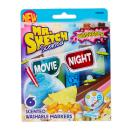 Mr. Sketch Washable Scented Markers, Chisel-Tip, Movie Night Colors, 6-Count