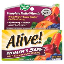 Nature's Way Alive Women's 50 Plus Multivitamin and Mineral Tablets, 50 Count (2 Packs)
