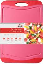 "Raj Plastic Cutting Board Reversible Cutting board, Dishwasher Safe, Chopping Boards, Juice Groove, Large Handle, Non-Slip, BPA Free, FDA Approved (Small (11.42"" x 7.87""), Crimson Red)"
