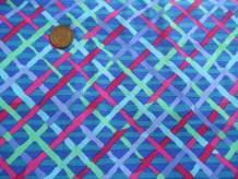 FreeSpirit Fabrics Kaffe Fassett Collective Mad Plaid, Yard, Cobalt