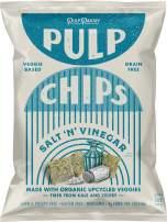Pulp Pantry Grain Free Veggie Tortilla Chips – 2 Pack – Salt N' Vinegar Flavor – Corn Free, Potato Free, Grain Free, Gluten Free, Non GMO, High Fiber, Low Net Carbs, Vegan, Paleo Snack Food