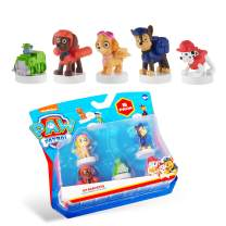 PAW Patrol Deluxe 5-Pack Figures with Stampers – Mess-Free, Preloaded Ink Technology in 7 Colors – Including PAW Patrol Chase and Zuma – Plastic Figurines Stand 2.5 to 3 in. Tall