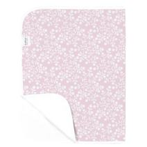 Kushies Deluxe Waterproof Changing Pad Liners - 20 x 30 inches Baby Changing Table Pad Covers - Baby Changing Pads in Pink Berries - Diaper Changing Pad Cover Waterproof for Changing Station