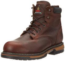 "Rocky FQ0006696 6"" BrnSoggy Steel Toe RWP Medium 8 Work Boots"