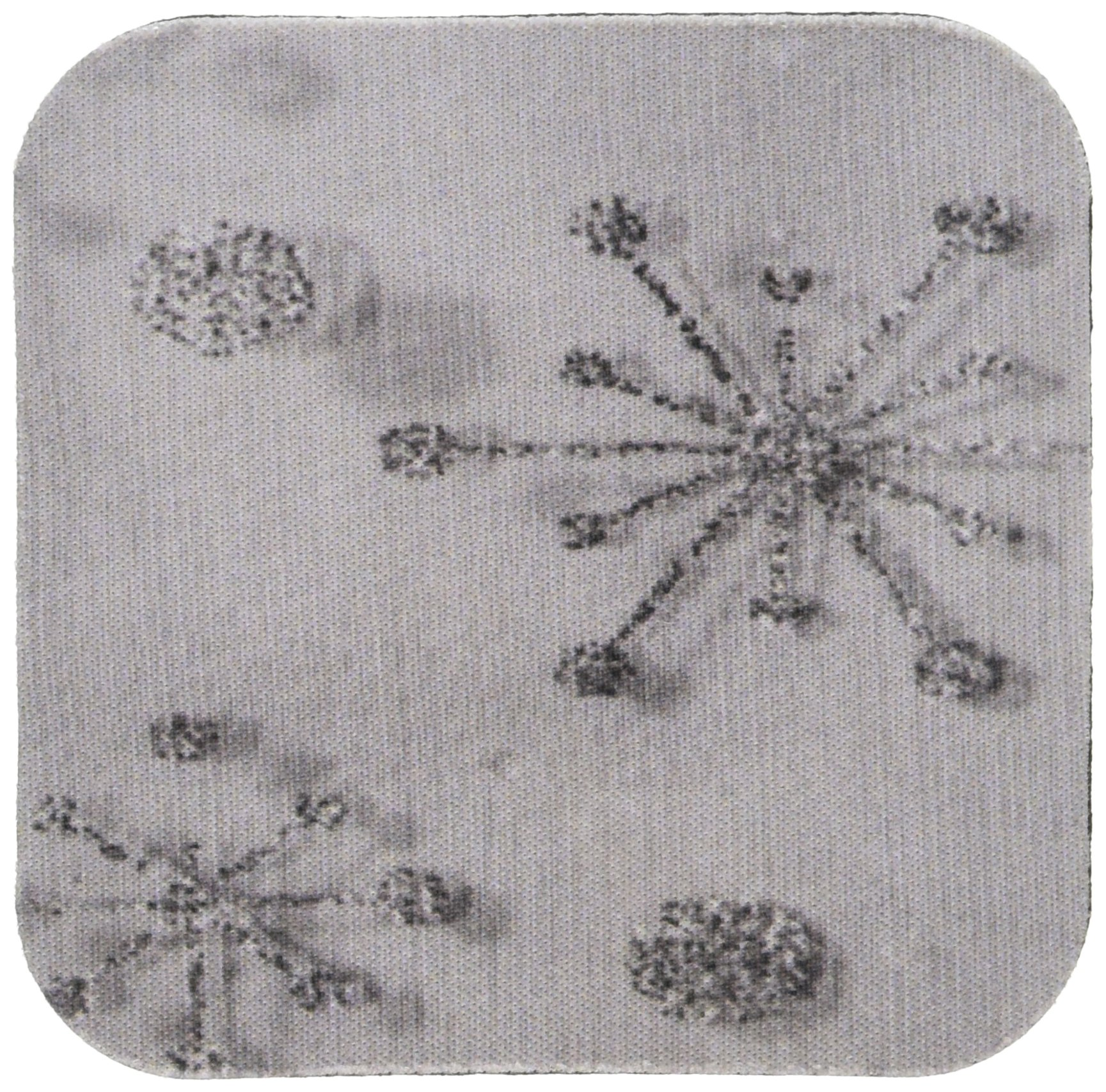 3dRose Silver Glitter Effect Sparkle Snowflakes in Fabric Photograph - Soft Coasters, Set of 4 (CST_213542_1)