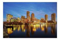 Boston, Massachusetts - Harbor & Skyline at Sunset 9000146 (19x27 Premium 1000 Piece Jigsaw Puzzle, Made in USA!)