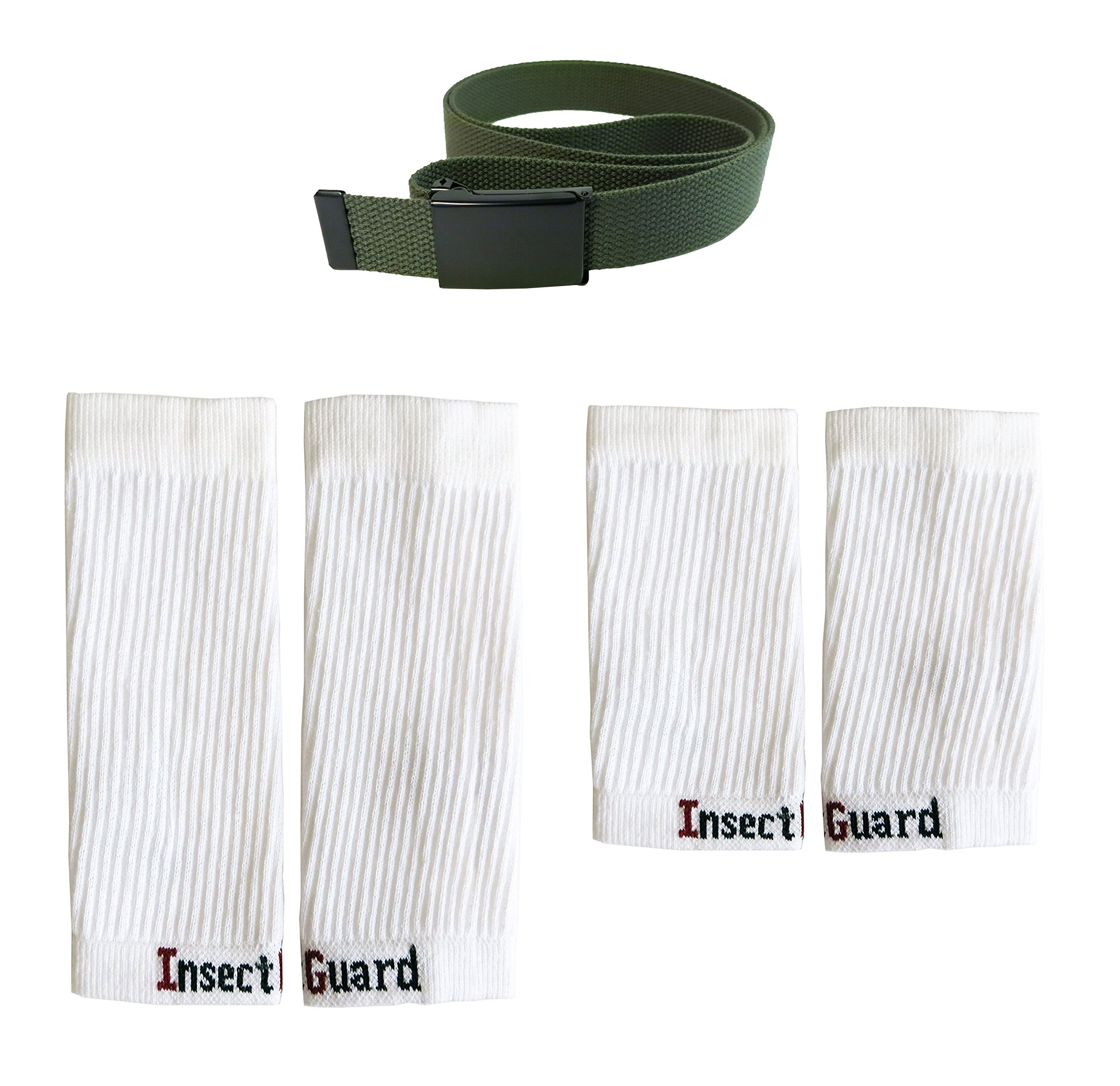 InsectGuard Permethrin Treated Tick & Mosquitoes Insect Repellent Complete Package 3 - Extra Wide (Green/White XW) Fits Adult Large to 2XL