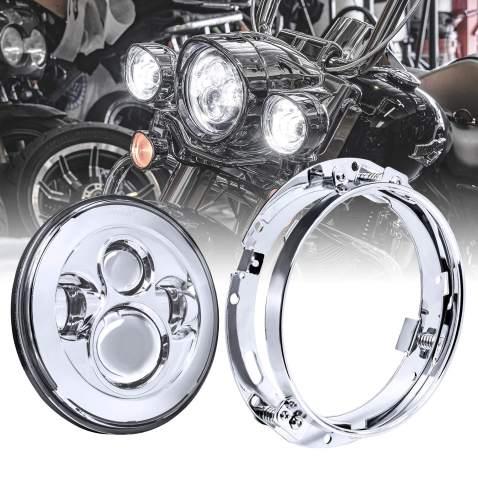 Headlamp Side Mount Bracket Chrome fits Harley-Davidson