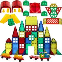 Magnetic Stick N Stack 300 Piece MEGA Magnetic Tiles Mega Set, 3D Construction Building Blocks Award Winning STEM Educational Classic Set with 34 Different Shapes and, Accessories for Kids