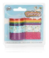 NPW Unicorn Craft, Set of 3, Rainbow Tape Rolls