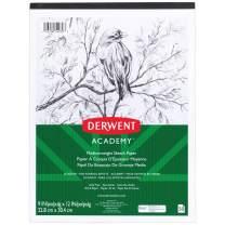 """Derwent Academy Sketch Pad, Medium Weight Paper, 50 Sheets, 9"""" x 12"""" (54970)"""
