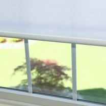 "Best Home Fashion Premium Single Wood Look Roller Window Shade - White - 27"" W x 64"" L"