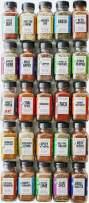 FreshJax Gourmet Organic Seasonings and Spices, Premium Collection, Variety Spice Jar Gift Set (25 Organic Spice Blend Set)