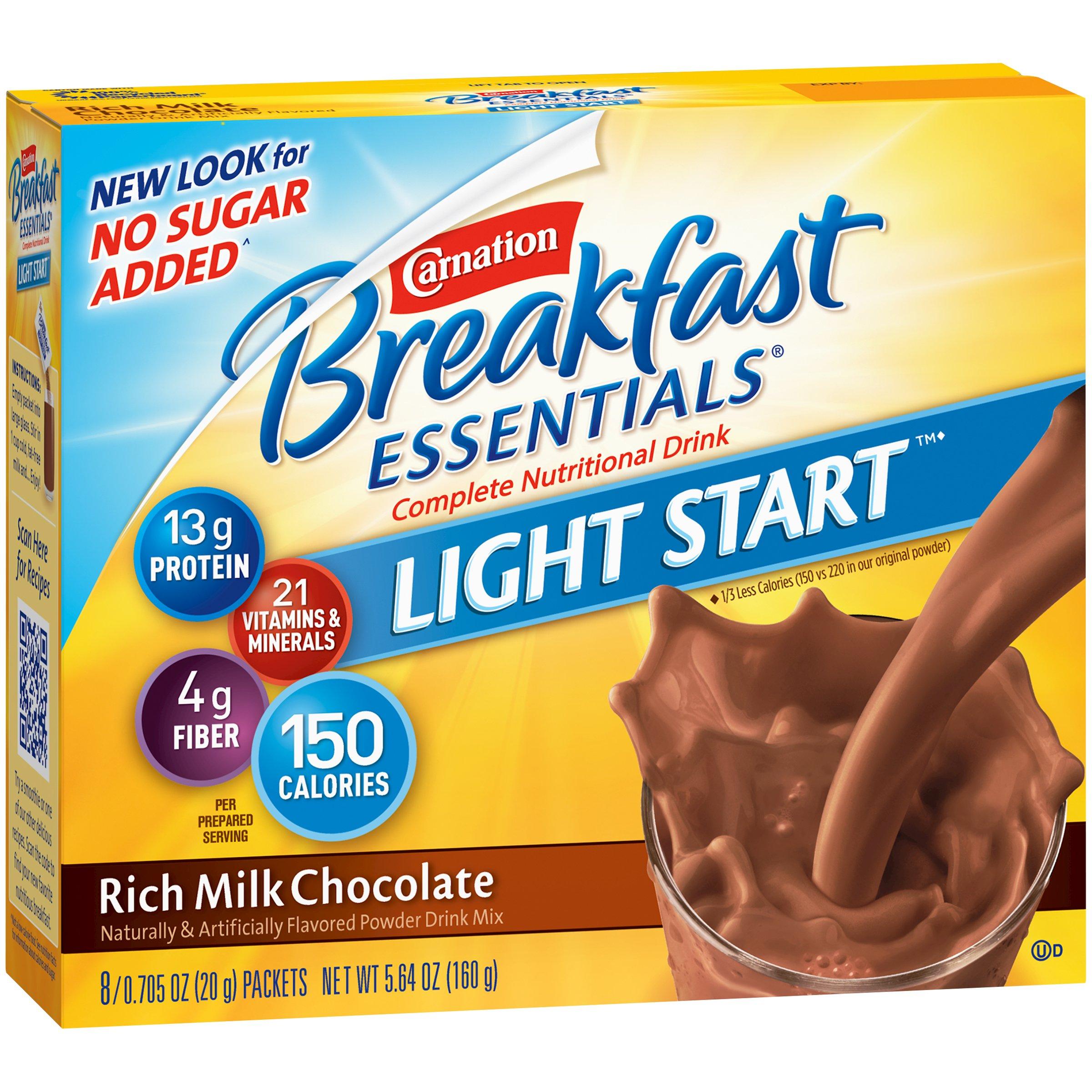 Carnation, Breakfast Essentials Powder Drink Mix, Rich Milk Chocolate, 8 Ct