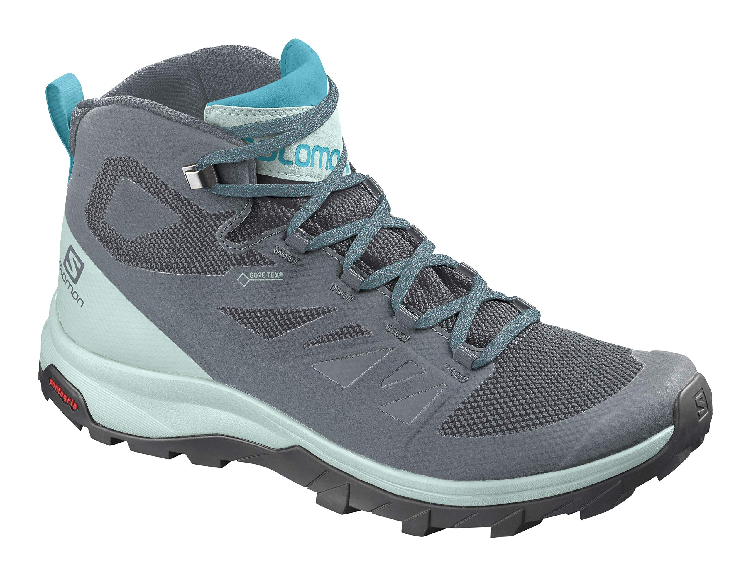 Salomon Women's OUTline Mid GTX W Hiking Boots, Stormy Weather/Icy Morning/Bluebird