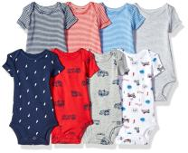 Carter's baby-boys 8-pack Short-sleeve Bodysuits