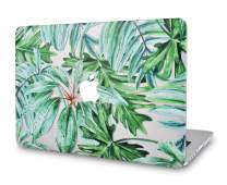 """LuvCaseLaptopCaseforMacBookPro 13"""" (2020/19/18/17/16 Release) with/Without Touch Bar A2159/A1989/A1706/A1708 RubberizedPlasticHardShell Cover (Rainforest)"""
