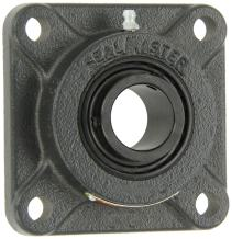 "Sealmaster SF-19C Standard Duty Flange Unit, 4 Bolt, Regreasable, Contact Seals, Setscrew Locking Collar, Cast Iron Housing, 1-3/16"" Bore, 4-1/4"" Overall Length, 3-1/4"" Bolt Hole Spacing Width, 17/32"" Flange Height"