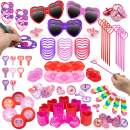 Party Favors for Kids 100 pc Bulk Princess Party Supplies - Birthday Party Supplies for Girls Goodie Bag Stuffers, Bulk Party Favors for Kids
