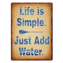 River's Edge 4508 Tin Sign 12in x 17in - Life Add Water