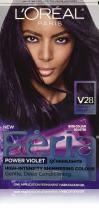 L'Oreal Paris Feria Multi-Faceted Shimmering Permanent Hair Color, V28 Midnight Violet (Deepest Violet), 1 kit Hair Dye