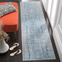 """Safavieh Mystique Collection MYS971D Vintage Watercolor Light Blue and Multi Distressed Runner (2'3"""" x 10')"""