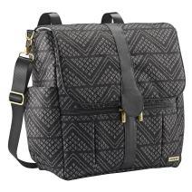 JJ Cole Backpack Diaper Bag with No Slip Grips and Multiple Pockets, Black Aztec
