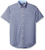 IZOD Men's Big and Tall Advantage Performance Short Sleeve Button Down Gingham Shirt