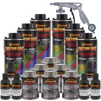 Custom Coat Federal Standard Color # 34052 USMC Dark Olive Drab T71 Urethane Spray-On Truck Bed Liner, 1.5 Gallon Kit with Spray Gun and Regulator - Durable Textured Protective Coating -