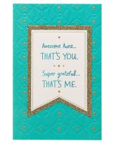American Greetings Mother's Day Card for Aunt (Super Grateful)