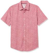 Amazon Essentials Men's Slim-Fit Short-Sleeve Stripe Shirt