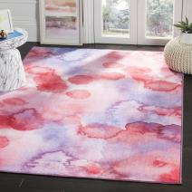 Safavieh Paint Brush Collection PTB122A Fuchsia and Lavender Area Rug (3' x 5')