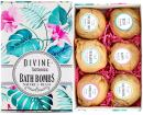 6 XL USA Made Essential Oils Lush Bath Bombs Set - Organic Coconut oil and Shea Butter - Christmas Gifts For Women - Bath Fizzies - Best Gift Ideas and Bath Bomb Gift Sets - Use with Bath Bubbles Bath