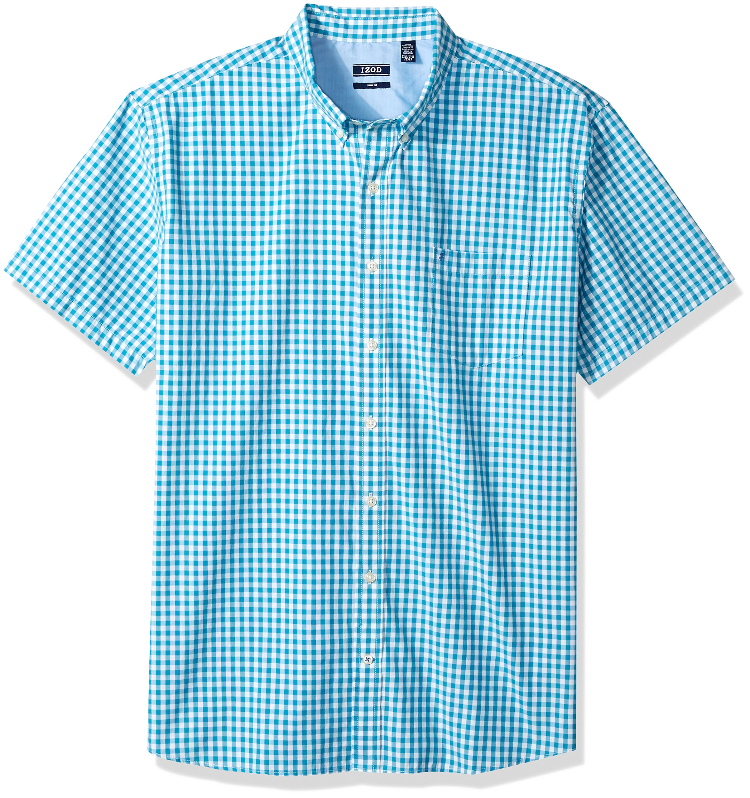 IZOD Men's Breeze Gingham Short Sleeve Shirt (Big & Tall and Tall Slim)