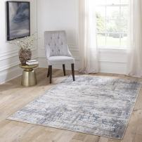 "Momeni Rugs Juliet Collection Area Rug, 2'0"" x 3'0"", Blue"