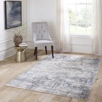 """Momeni Rugs Juliet Collection Area Rug, 2'0"""" x 3'0"""", Blue"""