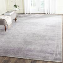 Safavieh Passion Collection PAS402G Oriental Vintage Watercolor Grey and Lavender Distressed Area Rug (9' x 12')