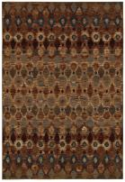 Rizzy Home Bellevue Collection Polypropylene Area Rug, Tan/Camel/Brown/Blue Ikat